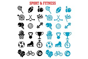 Sport and fitness icons