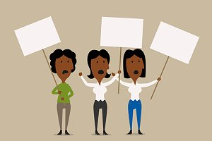 Businesswomen protests