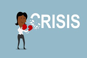 Businesswoman beats crisis