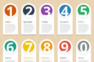 Infographic steps elements templates