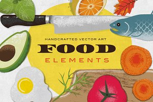 Food Elements Illustration