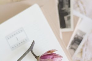 Vintage Photos & Open Book