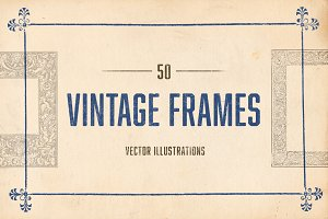50 Vintage Illustrated Frames
