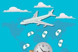 delivery service concept, money
