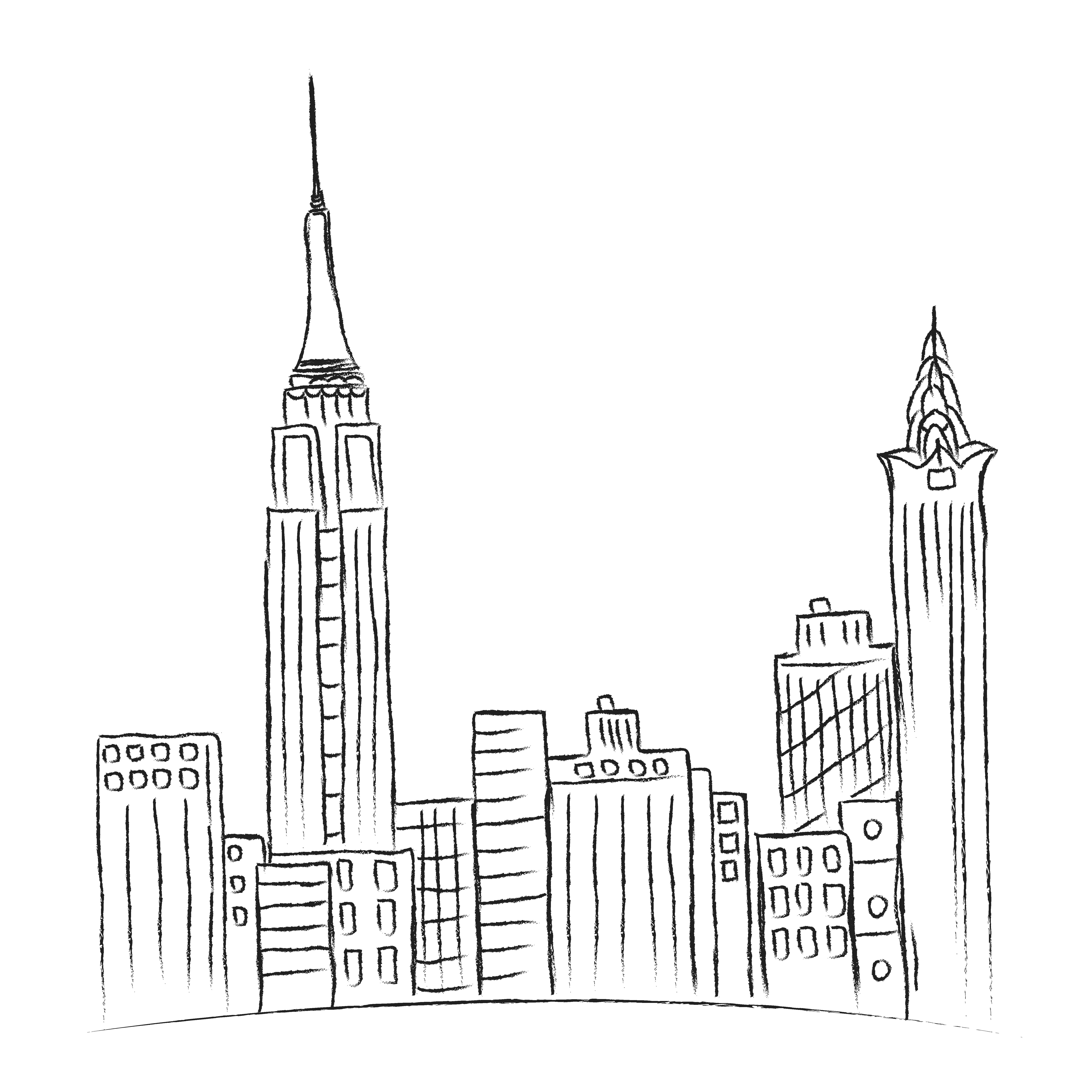 New York, city, sketch, vector ~ Illustrations ~ Creative
