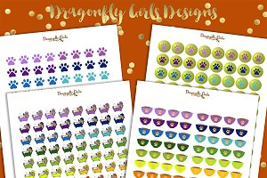 Rainbow Pet Care Printable Stickers