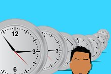 business and clocks, vector