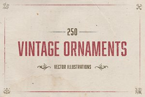 250 Vintage Illustrated Ornaments