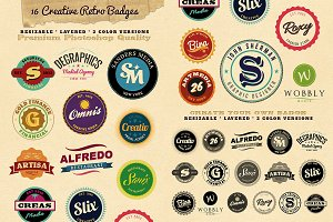 16 Simple Vintage Badge Templates