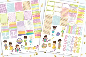 Easter Fun Printable Stickers
