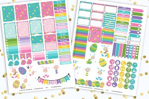 Baby's Easter Printable Stickers