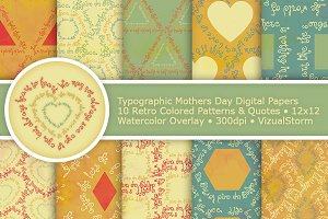 Typographic Mothers Day Paper