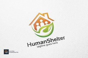 Human Shelter - Logo Template