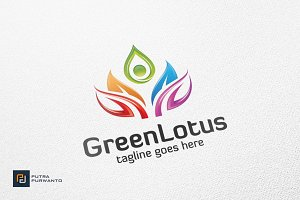 Green Lotus - Logo Template