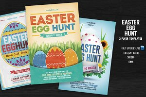 Easter Egg Hunt Flyer Bundle