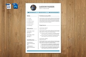 Resume & Cover Letter Template |V014