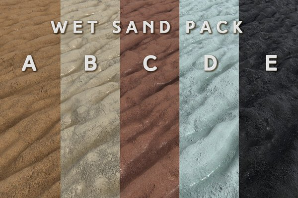 3D Dirt: Fiat Lux - Wet Sand Pack (Tileable)