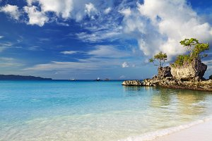 Tropical beach, Boracay, Philippines