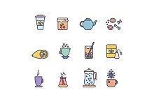 12 Tea Icons