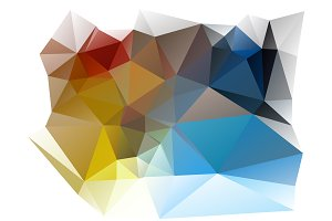 Vector Color Wheel Polygon Pattern