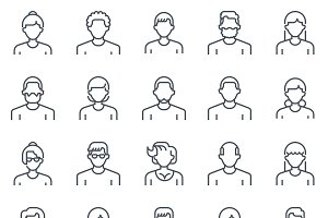 Employee, office people avatars