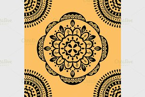 seamless yellow pattern.