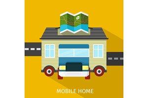 Mobile Home Flat Design Banner