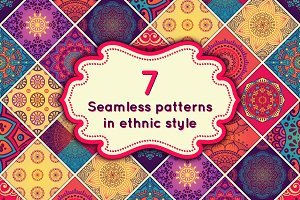 7 Seamless patterns in ethnic style