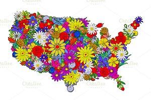 USA map.