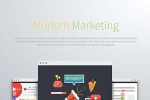 Modern Marketing Web Page Design