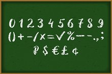 Numbers 0-9 written with a brush