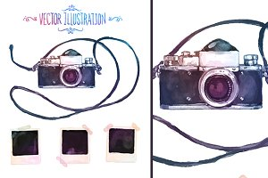 Vector watercolour camera