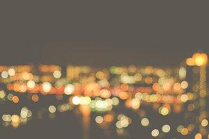Blurred Photo bokeh of cityscape