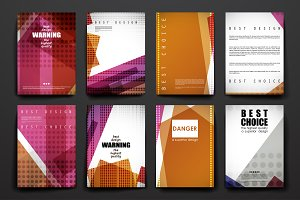 Set of Abstract Brochures