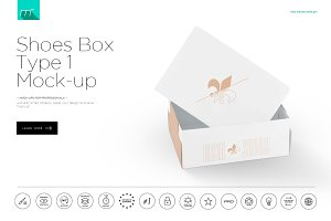 Shoes Box Type 1 Mock-up