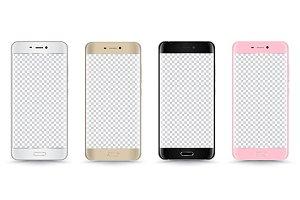 Smartphone vector realistic set