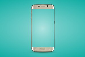 Gold smartphone vector mockup