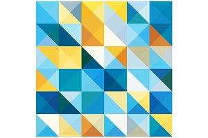 Vector Squares and Triangles Pattern
