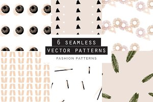 Fashion Seamless Patterns Set of 6