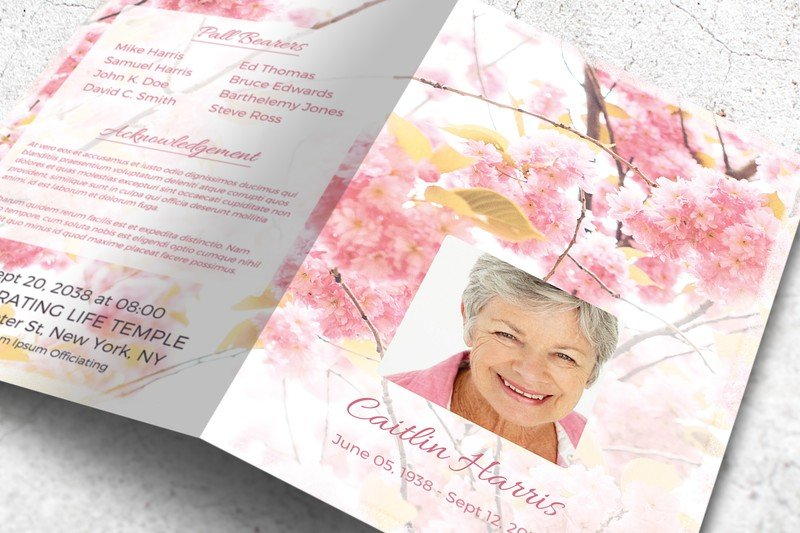 Funeral Program Template in MS Word ~ Brochure Templates ~ Creative ...