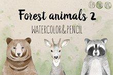 Set of 3 forest animals VOL.2