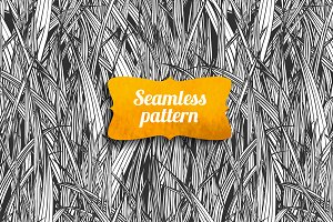 linear grass seamless pattern