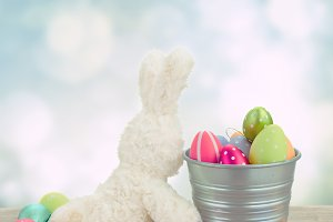 egg hunt with easter bunny