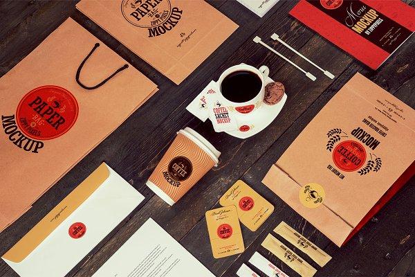 Coffee Branding & Packaging Mockups