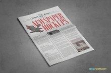 Tabloid Size Newspaper Mockups Vol.8