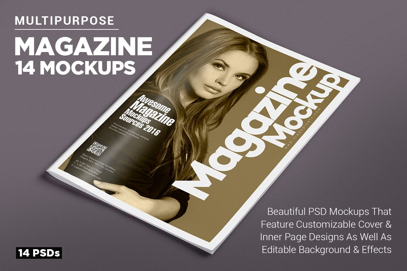 14 magazine mockups vol 7 product mockups creative market for Magazine layout templates free download