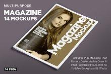 14 Magazine Mockups Vol. 7