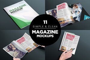 17 Softcover Magazine Mockups Vol. 4