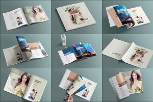 Square Layout Magazine Mockups Vol.8
