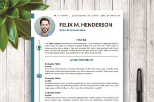 CV/Resume Modern Template For Word